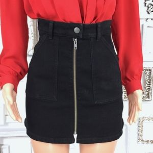 Madewell Skirts - Madewell | Denim Utility Zip Front Skirt 25